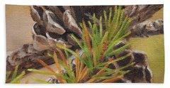 Pine Cones Beach Towel