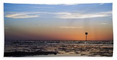 Pine Island Sunset Beach Towel by Beverly Stapleton