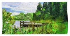 Pine Lake Pier Beach Sheet