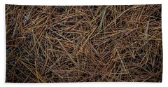 Beach Sheet featuring the photograph Pine Needles On Forest Floor by Elena Elisseeva