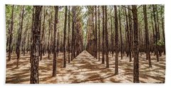 Pine Plantation Wide Color Beach Towel