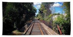Pine River Railroad Bridge Beach Towel