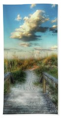 Beach Towel featuring the photograph Pine Street Glow by Linda Olsen