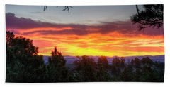Pine Sunrise Beach Towel