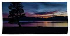 Pine Tree At Sunset Beach Towel