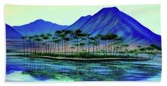 Pine Tree Island Beach Towel