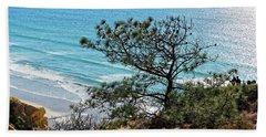 Pine Tree On Coast Beach Towel