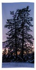 Pine Tree Silhouette    Beach Towel
