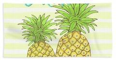 Pineapple Aloha Tropical Fruit Of Welcome Hawaii Beach Towel