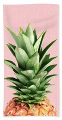 Pineapple And Pink Beach Towel by Vitor Costa