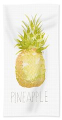 Beach Towel featuring the painting Pineapple by Cindy Garber Iverson
