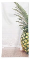 Pineapple On The Beach Beach Towel