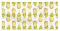 Beach Towel featuring the painting Pineapple Print by Cindy Garber Iverson