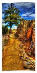 Ponderosa Pine Guarding The Trail Beach Towel