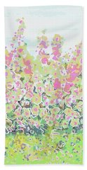 Pink Abstract  Beach Towel