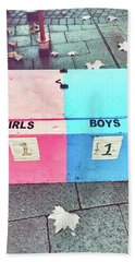 Pink And Blue Crate Beach Towel
