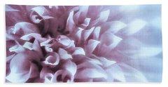 Pink And Blue Dahlia Beach Sheet