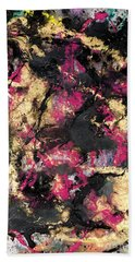 Pink And Gold Merge Beach Towel