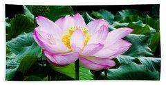 Pink And Green Floral Garden Ballet 11u Lotus Bloom Beach Sheet