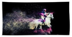 Pink And Grey Eventer - Colour Explosion Beach Towel