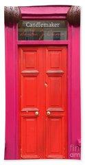 Pink And Orange Door Ireland Beach Sheet