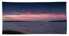 Pink And Purple Afterglow Beach Sheet