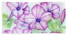 Pink And Purple Beach Towel