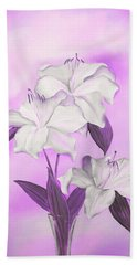 Beach Towel featuring the mixed media Pink And White by Elizabeth Lock