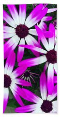 Pink And White Flowers Beach Sheet