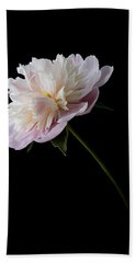 Pink And White Peony Beach Towel by Patti Deters