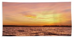 Pink And Yellow Sunset Beach Towel by Doug Long