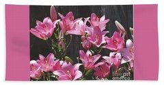 Pink Asiatic Lilies Beach Sheet