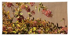 Pink Autumn Beach Towel