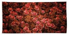 Pink Bionica Roses Beach Sheet
