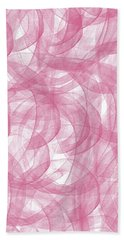 Pink Bliss Abstract Beach Towel