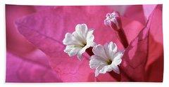 Pink Bougainvillea 2 Beach Towel by Leigh Anne Meeks