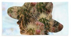 Pink Cactus Beach Sheet