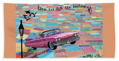 Pink Cadillac Beach Towel