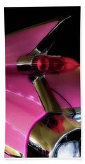 Pink Cadillac Beach Towel by Trey Foerster