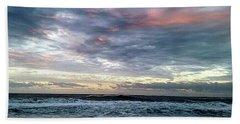 Pink Clouds At Dawn Beach Sheet