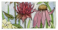 Pink Coneflower Beach Sheet