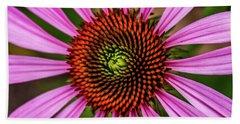 Beach Sheet featuring the photograph Pink Cornflower by Joann Copeland-Paul