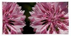 Pink Cornflowers Beach Sheet