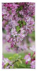 Pink Apple Blossom Beach Sheet