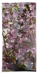 Pink Crabapple Branch Beach Sheet
