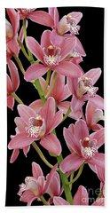 Pink Cymbidium Orchid Beach Sheet