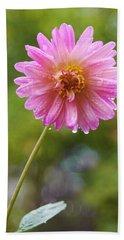 Pink Dahlia 2 Beach Sheet
