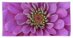 Beach Towel featuring the photograph Pink Dahlia by Dale Kincaid