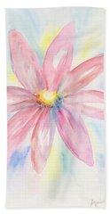 Pink Daisy Beach Towel