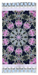 Pink Deco Medallion Beach Towel by Shirley Moravec